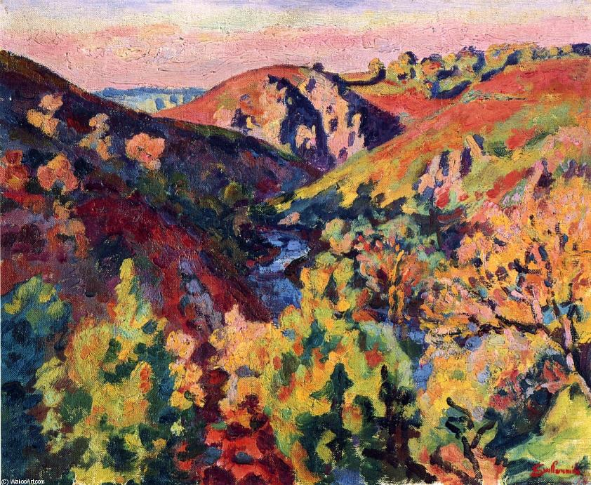 famous painting The Valley of the Creuse of Jean Baptiste Armand Guillaumin