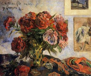 Paul Gauguin - Vase of Peonies I