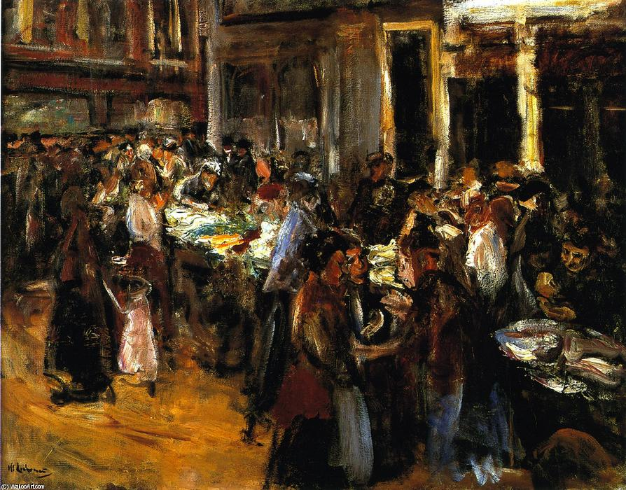 famous painting Vegetable Market in Amsterdam of Max Liebermann