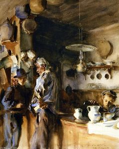 John Singer Sargent - A Venetian Interior (also known as A Spanish Interior or Wineshop)