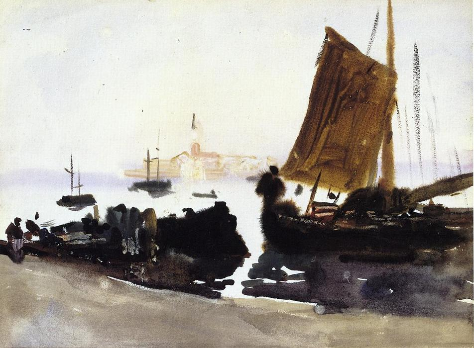 famous painting Venice, Sailing Boat of John Singer Sargent