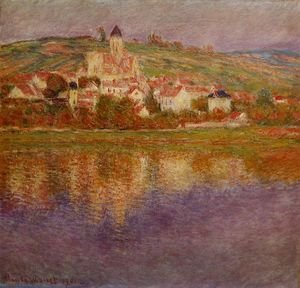 Claude Monet - Vetheuil, Pink Effect