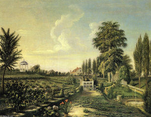 Charles Willson Peale - View of the Garden at Belfield