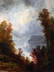 Jasper Francis Cropsey - View of the Hudson River, Autumn