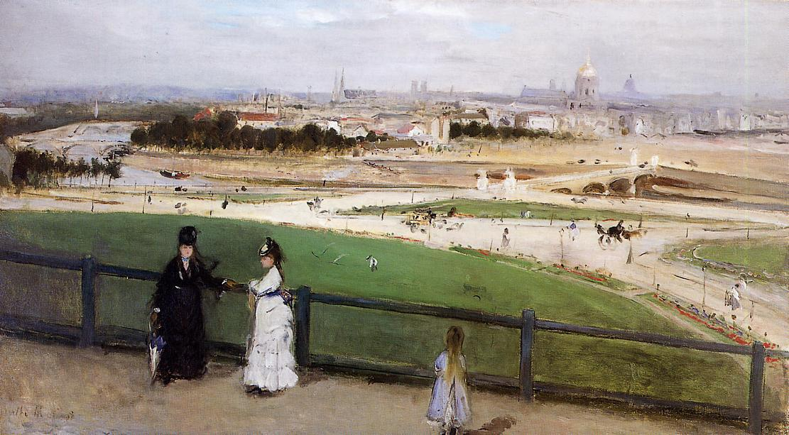 famous painting View of Paris from the Trocadero Heights of Berthe Morisot