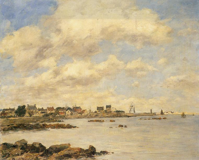 famous painting View of Saint-Vaast-La-Houghe of Eugène Louis Boudin