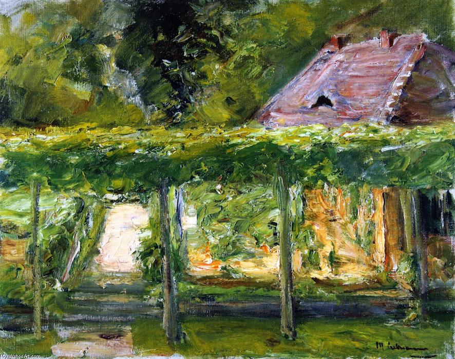 famous painting View over the Tall Linden Hedge into the Cutting Garden toward the West of Max Liebermann