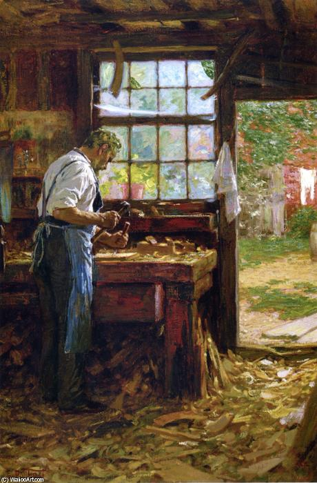 famous painting The Village Carpenter of Edward Henry Potthast