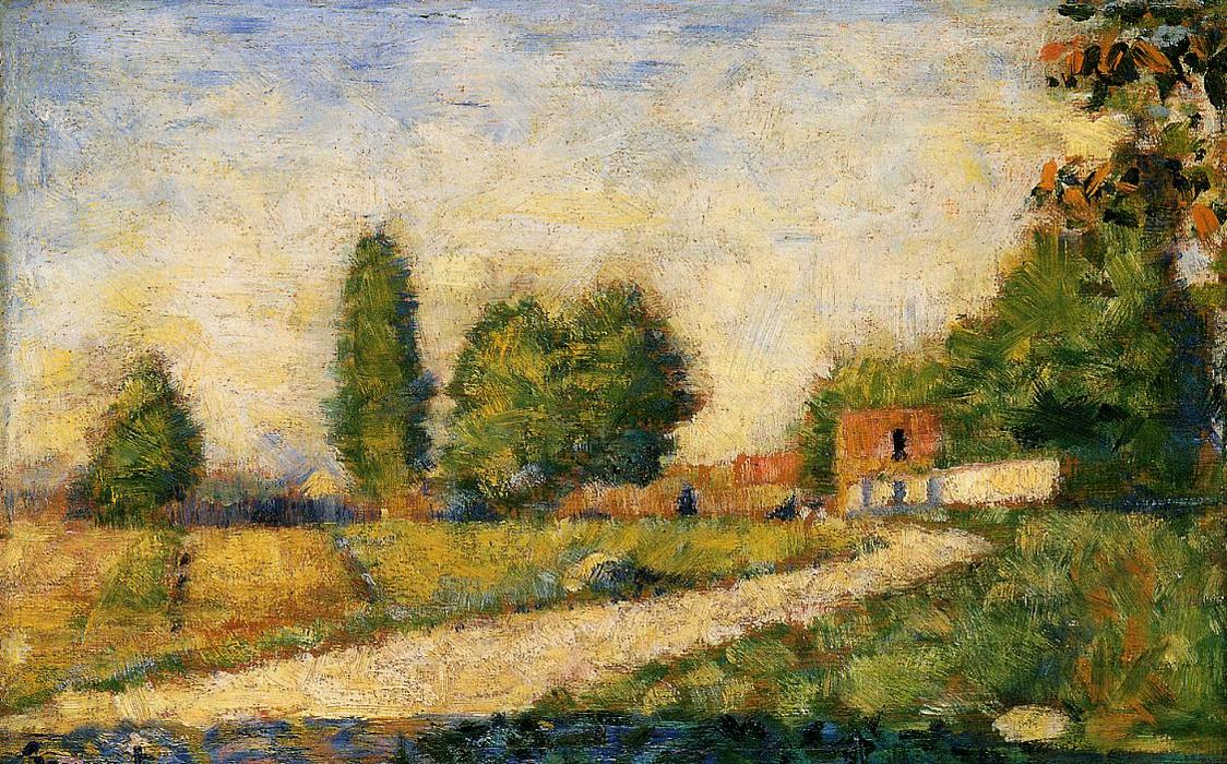 famous painting Village Road of Georges Pierre Seurat