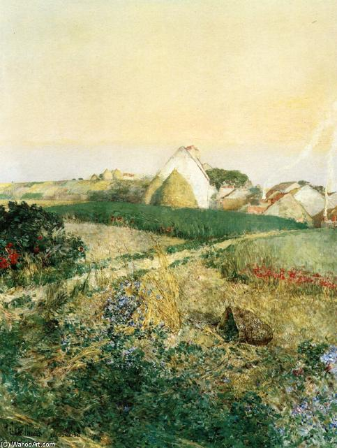 famous painting Villers-le-Bel (also known as The Enchanted Hour) of Frederick Childe Hassam