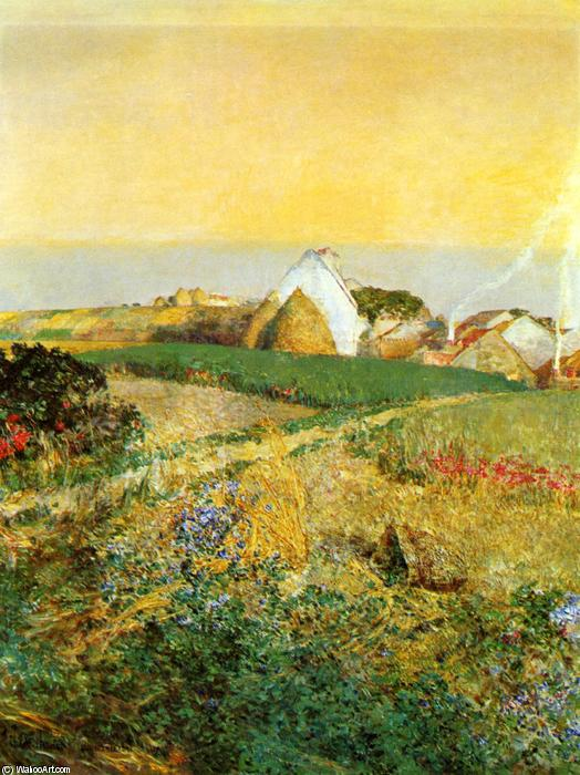 famous painting Villiers le Bel of Frederick Childe Hassam