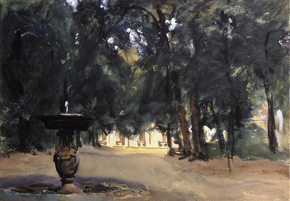 famous painting Villa Torlonia Fountain of John Singer Sargent