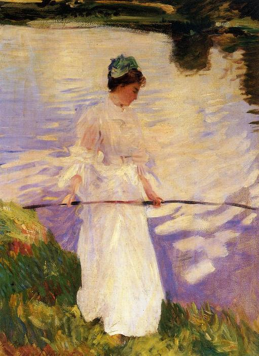 famous painting Violet Fishing of John Singer Sargent