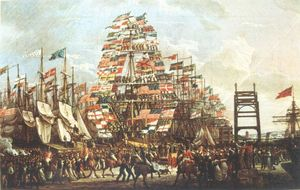 Robert Salmon - Visit of the Prince of Wales to Liverpool, 18 September, 1806