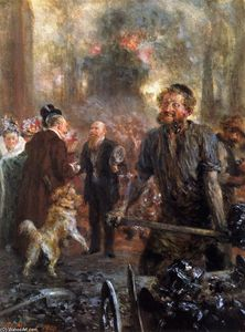 Adolph Menzel - Visit to the Forge