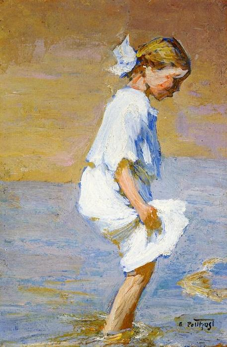 famous painting Wading at the Shore of Edward Henry Potthast