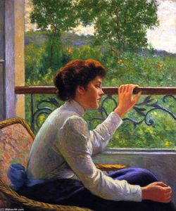 Federico Zandomeneghi - 'Waiting (also known as Girl by the Window)'