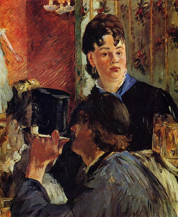 famous painting The Waitress (also known as The Beer Serving Girl) of Edouard Manet