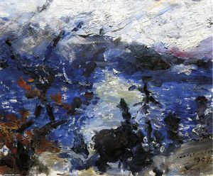 Lovis Corinth (Franz Heinrich Louis) - The Walchensee, Mountains Wreathed in Cloud