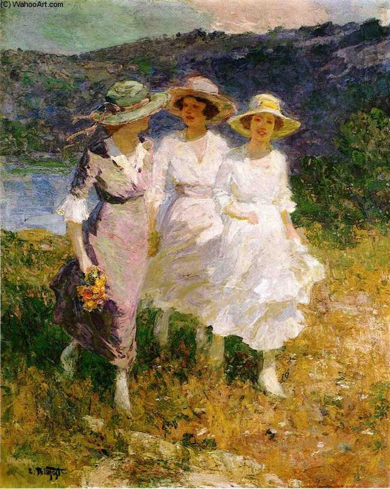 famous painting Walking in the Hills of Edward Henry Potthast