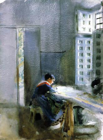 famous painting Wallpaper Factory of Anders Leonard Zorn