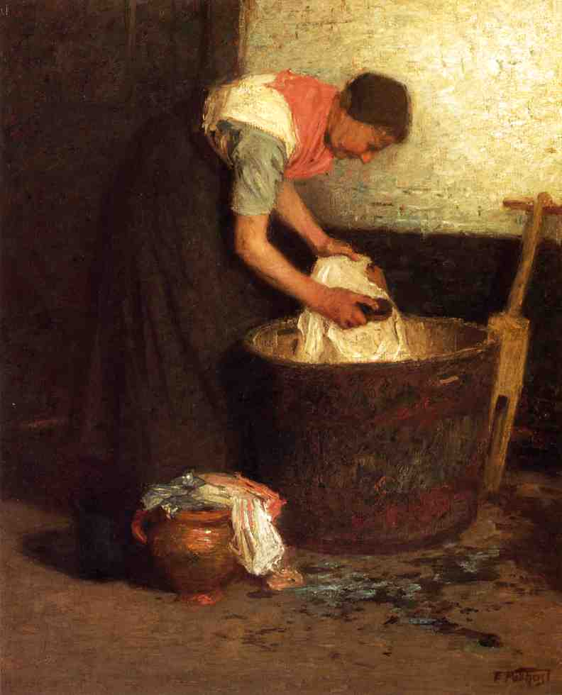 famous painting The Washerwoman of Edward Henry Potthast