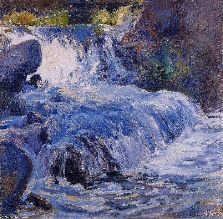famous painting The Waterfall of John Henry Twachtman