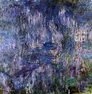 Claude Monet - Water-Lilies, Reflection of a Weeping Willow