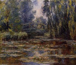 Claude Monet - The Water-Lily Pond and Bridge
