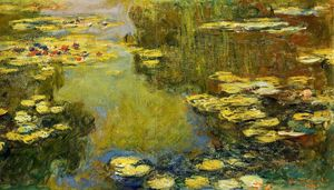 Claude Monet - The Water-Lily Pond (detail)