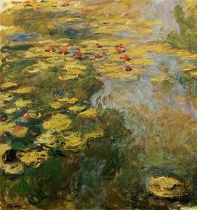 Claude Monet - The Water-Lily Pond (left side)
