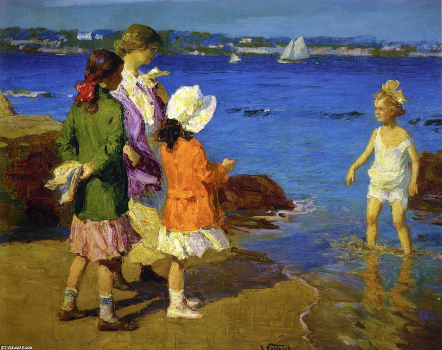 famous painting The Water's Fine of Edward Henry Potthast
