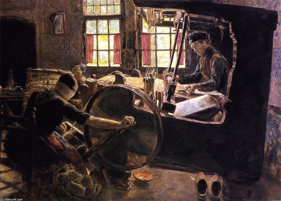 famous painting The Weaver of Max Liebermann