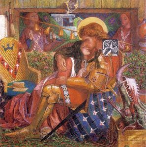Dante Gabriel Rossetti - Wedding of St George and the Princess, The