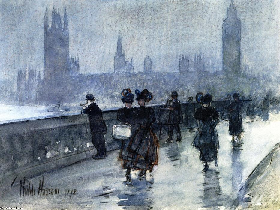 famous painting Westminster Bridge of Frederick Childe Hassam