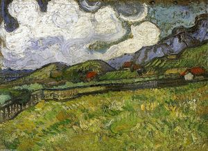 Vincent Van Gogh - Wheat Field behind Saint-Paul Hospital with a Reaper