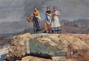 Winslow Homer - Where are the Boats? (also known as On the Cliffs)