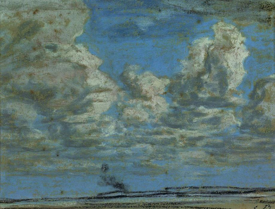famous painting White Clouds of Eugène Louis Boudin