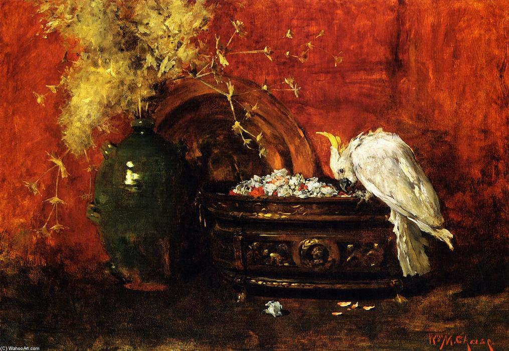 famous painting White Cockatoo of William Merritt Chase