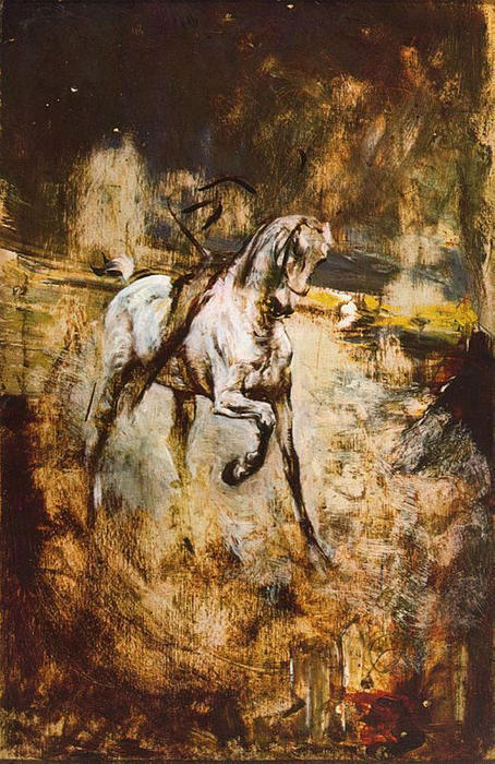 famous painting White Horse of Giovanni Boldini