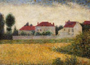 Georges Pierre Seurat - White Houses, Ville d'Avray