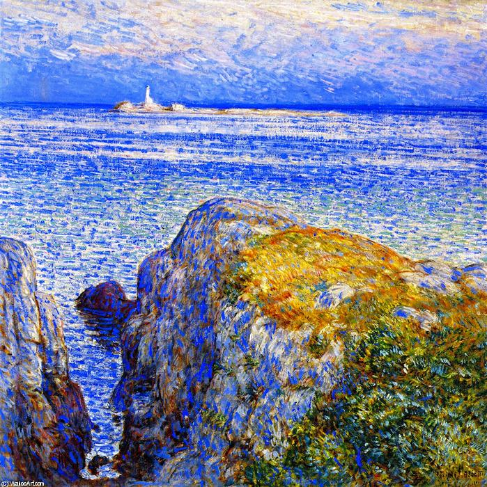 famous painting White Island Light, Isles of Shoals, at Sundown of Frederick Childe Hassam