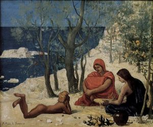 Pierre Puvis De Chavannes - The White Rocks