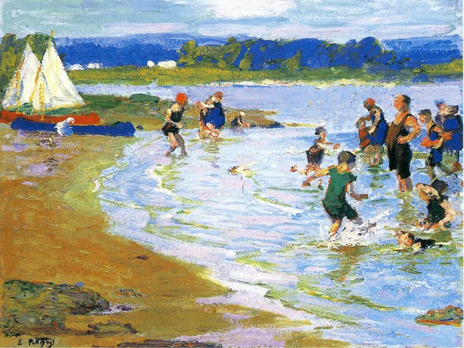 famous painting The White Sails of Edward Henry Potthast