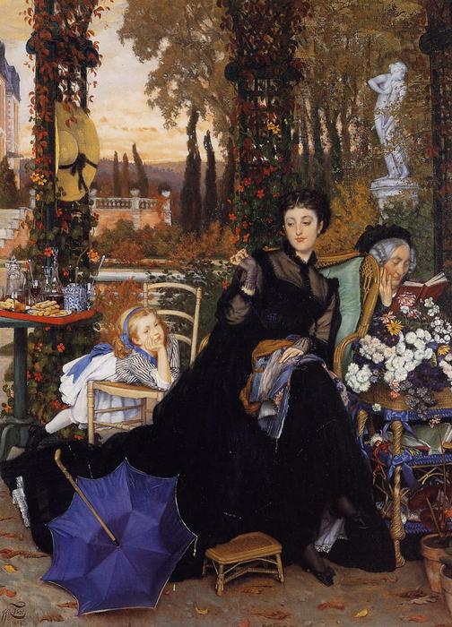 famous painting A Widow of James Jacques Joseph Tissot