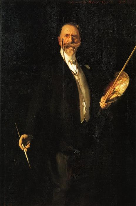 famous painting William Merritt Chase of John Singer Sargent