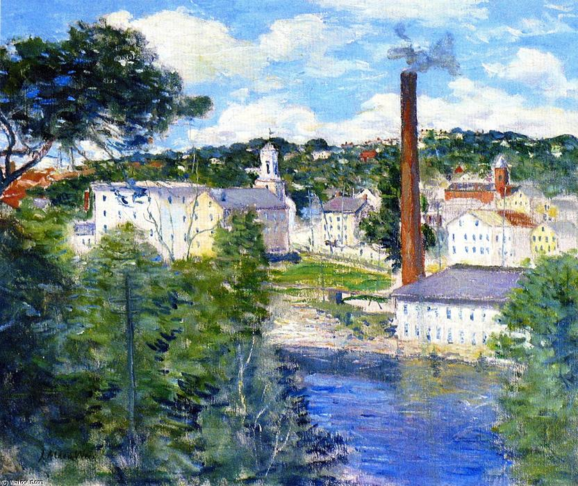 famous painting Willimantic, Connecticut of Julian Alden Weir