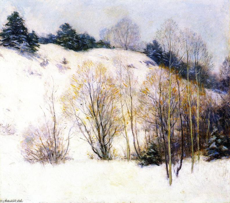famous painting Willows in March of Willard Leroy Metcalf