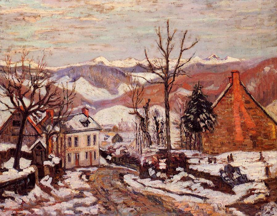 famous painting Winter in Saint Sauves (also known as Auvergne) of Jean Baptiste Armand Guillaumin