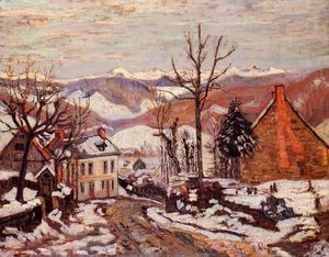 Jean Baptiste Armand Guillaumin - Winter in Saint Sauves (also known as Auvergne)